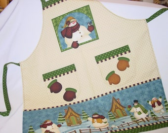 Country Snowman Apron