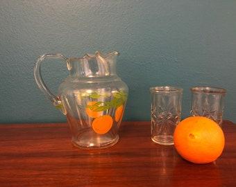 Vintage orange juice pitcher