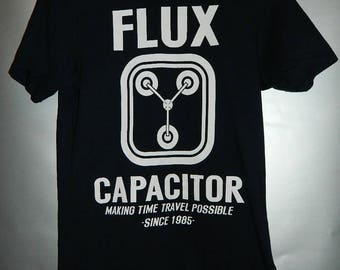 Back to the Future Flux Capacitor vintage t shirt licenced
