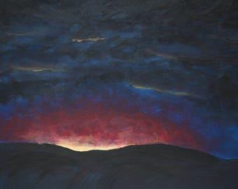 Night Sky Canvas