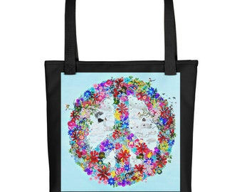 Peace - Floral Dream Tote bag