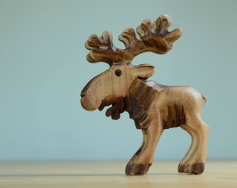 Reindeer Wooden Figure