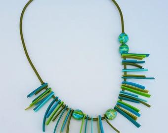 Smaragd Shag Fransen-Kette
