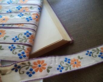1 Yard Vintage Jacquard Woven RibbonTrim