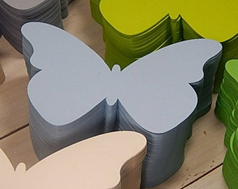 10 x Quality Butterfly Shaped Flat Cards in 30% Recycled Vibrant Cardstock 14,5 x 10cm/ 5.75 x 4""