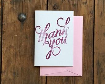 Thank You Cards Handmade Purple, Thank You Card Thank You Gift, Greeting Cards Thanks, Wedding Thank You Card, Thank You Notes Card