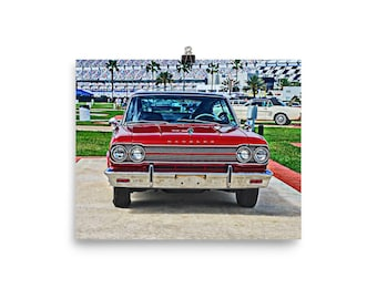 1965 Rambler Marlin Muscle Car Poster, Muscle Car Art, Gift for Guys, Rambler Poster, Matte Finish, Hot Rod Art, Marlin Poster