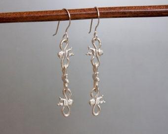 Monkey Earrings - Silver