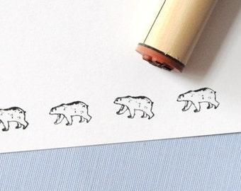 Polar Bear Rubber Stamp