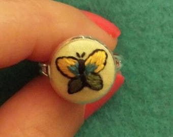 Buterfly embriodery Ring!