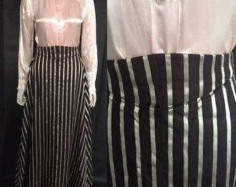 Striped Edwardian skirt