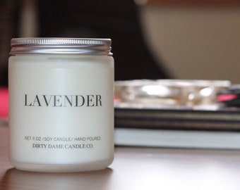 Lavender Soy Candle.