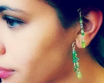 Fantasy Elemental Ear Cuff Spring Green