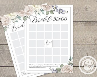 INSTANT DOWNLOAD: Bridal Shower Game - Romantic Garden - Bridal Bingo