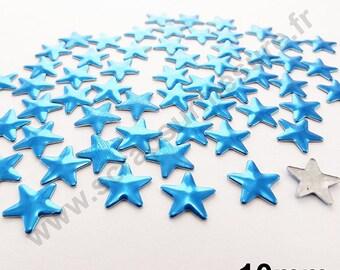 Fusible Star - Blue - 10mm - x 50pcs