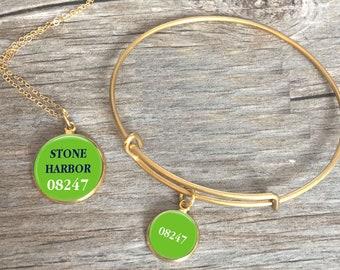 Stone Harbor Zip Code Jewelry
