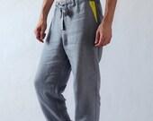 Natural mens linen pants. Linen pants. Mens trousers. Pants for men. Gift for him. Summer linen pants. Mens beach pants. Workout pants
