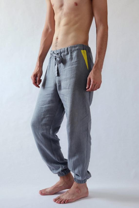 Natural mens linen pants. Mens trousers. Pants for men. Gift for him. Summer linen pants. Mens Clothing. Natural linen pants. Black pants 0L5M3Qs