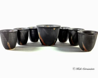Cup porcelain Matt Black (small)