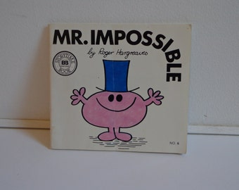 Vintage Mr. Impossible by Roger Hargreaves Classic Children's Book 80s 90s Mr. Men Books Series