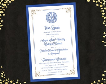 College Graduation Invitations Announcements Bachelor's Degree Layered Announcements Graduation Announcements Qty. 25