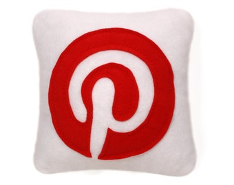 12 x 12 pinterest pillow - handmade pillow - white decorative pillow - geekery pillow