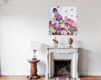 """Big Size Art Print of """"Exposed"""" contemporary painting"""