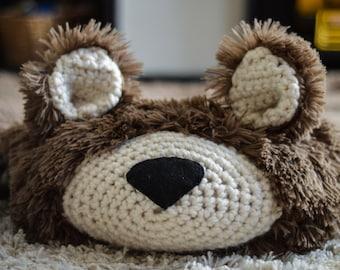 Bear Rug /Large size Faux Bear Rug / woodland nursery / Baby room decor / animal playmat