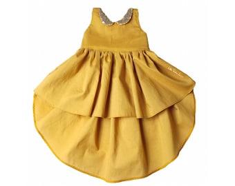 Golden Glam Hi-Lo Dress / Girls Dress / Dresses / Baby Dress