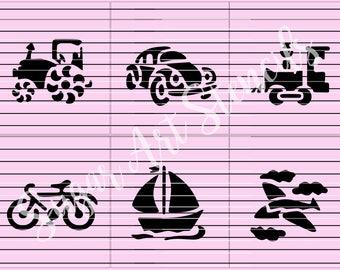 Transportation cookie stencils set of 6  SL2077