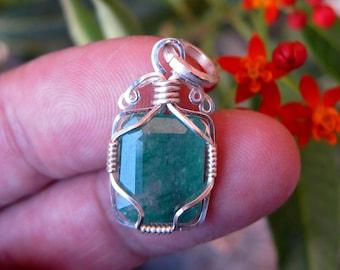 gemstone pendant emerald pendant emerald necklace