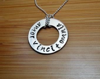 sterling silver amor vincit omnia necklace - amor vincit omnia - sterling silver necklace - love conquers all necklace - love conquers al