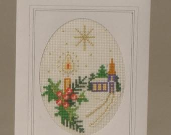 CD 908 Christmas Star cross stitch card kit