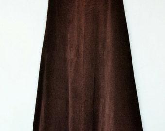 chocolate corduroy maxi skirt