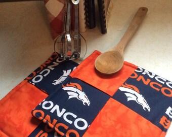 NFL Denver Broncos Hot pads-Potholders, Kitchen,Dining ,NFL, Football,sports