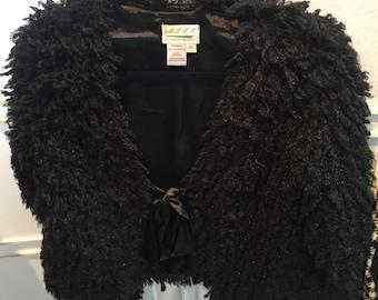 Vintage inspired lambs wool evejng jacket