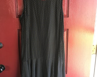 90s drop waist polka dot dress