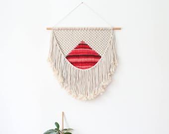 Woven wall hanging, woven macrame wall hanging, wall tapestry, boho wall decor, woven tapestry, boho tapestry, wall hanging woven