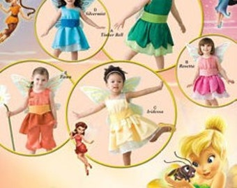 Fairy Costumes Sewing Pattern Disney Fairies Costumes Pattern Simplicity 2559 Size 1/2 - 4