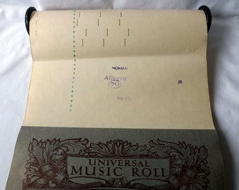 Pianola Piano Roll,  Dualano for a mechanical Pianola Vintage Hors D'Oeuvre a  fox-trot published in 1913.