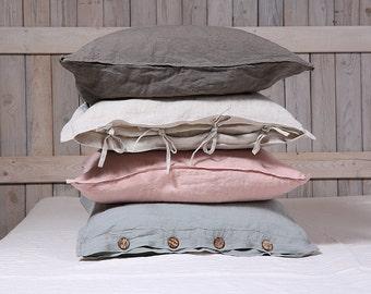 Linen pillow sham / Flax pillow cover / organic pillow case