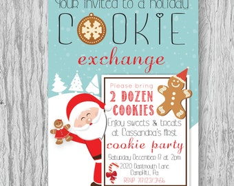 Holiday Cookie Exchange Invite