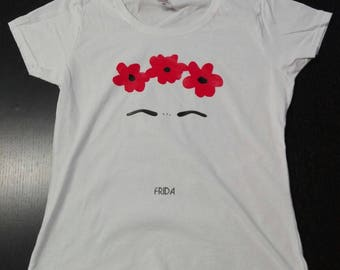 Frida Kahlo vintage Women's T-Shirt 100% cotton print