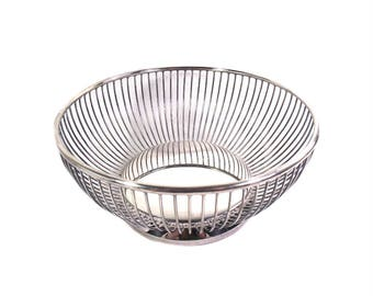 Vintage Viners of Sheffield Silver Plated Fruit Bowl, Silver Plated Basket, Silver Plated Bread Bowl, English Decor, English Dining Table