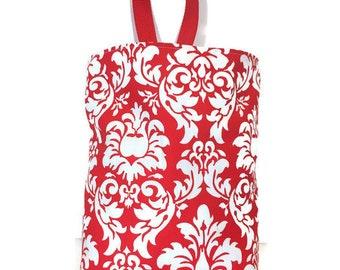 Car Trash Bag//Red Damask//Car Waste Bag//Waterproof Trash Bag//Litter Bag for Car//Hanging Trash Bag//Car Waterproof Waste Bag