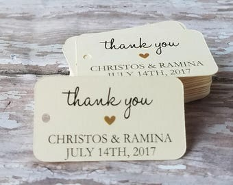 Mini Thank You Tags, Succulent Tags, Small Thank You Favor Tags, Wedding Favor Tag, Bridal Shower, Baby Shower, Rectangle thank you (233)