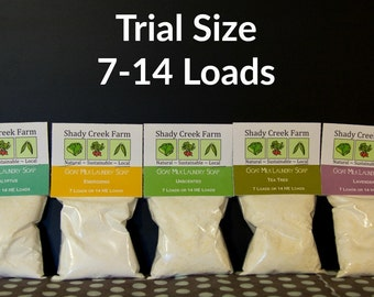 Goat Milk Laundry Soap Trial Size 7-14 loads Laundry Detergent Laundry Powder Biodegradable Eco-Friendly Natural Detergent