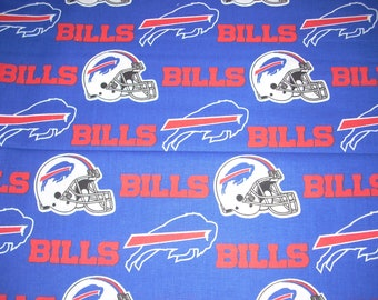 Buffalo Bills cotton fabric 22 inches long and 58  inches wide