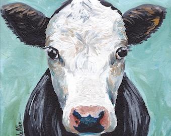 "Cow Print Digital Download, Cow art Instant Download ""Maybeline"""