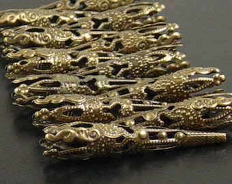 Bronze Bead Cap 12 Cones Antique Bronze Victorian Filigree 42mm (1056cap42z1)xz